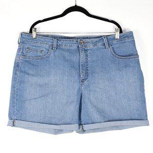 Riders by Lee Midrise Denim Cuffed Shorts Plus 22